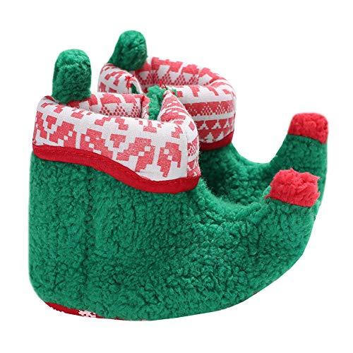 LPATTERN Patucos de Navidad Invierno para Bebé Recién Nacido Zapatil