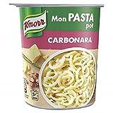 Knorr Mon Pasta Pot Pâtes Carbonara, Repas Express Portion Individuelle Sans Colorant ni Exhausteur de Goût 71g