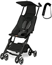 2017 GB Pockit Stroller - FREE BABY GEAR XPO STROLLER HOOK WITH PURCHASE (Monument Black)