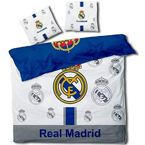 Real Madrid Football - Parure de lit Double - Housse de Coue