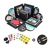 REINE HERZENSSACHE Kreative Überraschung Box (Stifte, Sticker) Explosionsbox Geburtstag...
