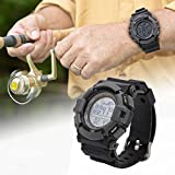 Barómetro de Pesca al Aire Libre, altímetro, termómetro, Duradero, Unisex, Reloj de Bolsillo, Reloj Inteligente, Reloj con Clip LED para competición de Pesca, Deportes al Aire Libre