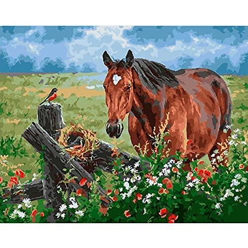 Pintura Al Óleo Animal Pintada A Mano,Pintado A Mano Abstracto Moderno Lienzo Pintura Caballo Dibujo Sobre Lienzo Arte Regalo Cuadros Animales Kits Hogar Decoración Regalo,Como Se Muestra,80×1