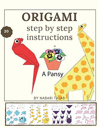 Origami step by step instructions: animals birds dogs cats