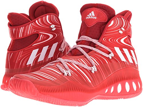 adidas Men's Shoes | Crazy Explosive Basketball, Scarlet/White/University Red, (7 M US)