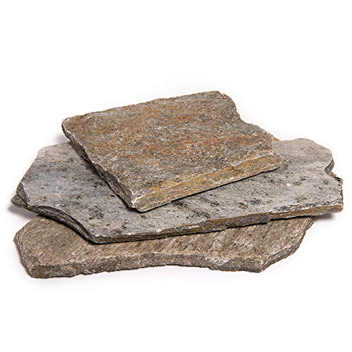 Landscape Patio Flagstone | 500 Pounds | Natural Rock Pathway Stepping Stone Slabs for Gardens, Terrariums, Landscape Design, Driveway Pavers and Walkway Steppers (Storm Mountain)