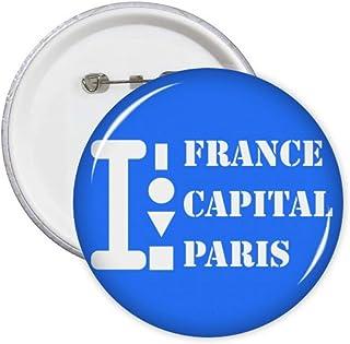 Capitale de Paris Cadeau Art Déco Mode Pin Badge Badge Emblème Accessoire Décoration 5pcs