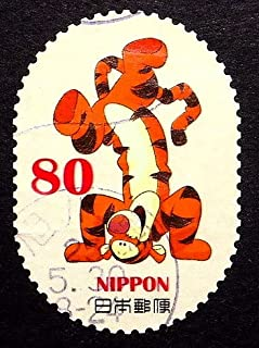Tigger, Winnie The Pooh, Cartoons -Handmade Framed Postage Stamp Art 22229AM