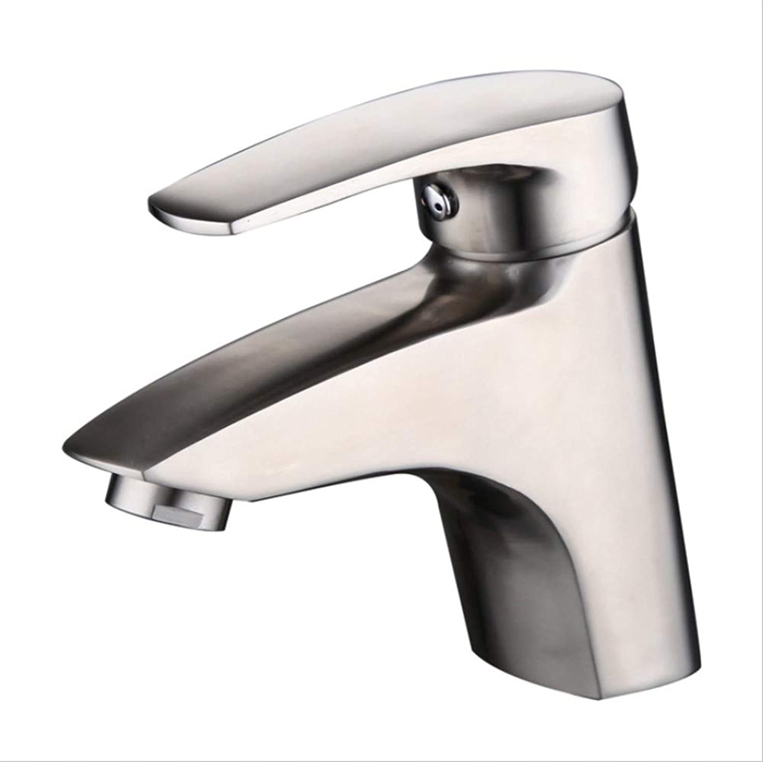 Basin Taps Swivel Spout Faucet 304 Stainless Steel Basin Faucet Cast Cold and Hot Basin Upper and Lower Basin Single Hole Washbasin Bathroom Toilet