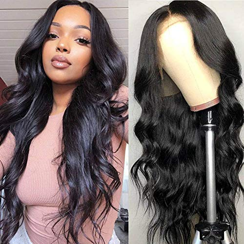 9A Lace Front Wigs Human Hair,West Kiss Glueless Lace Frontal Wig Body Wave 150% Density Wigs Pre-Plucked With Baby Hair For Black Women (12 Inch)