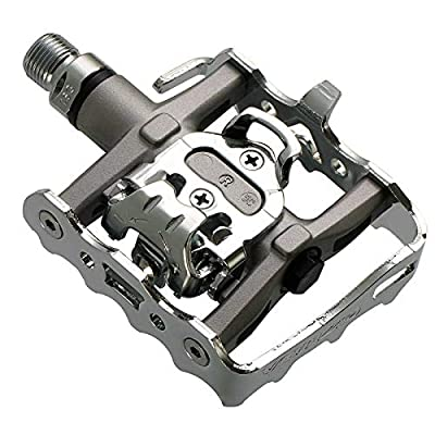Venzo Multi-Use Compatible with Shimano SPD Mountain Bike Bicycle Sealed Clipless Pedals - Dual Platform Multi-Purpose - Great for Touring, Road, Trekking Bikes