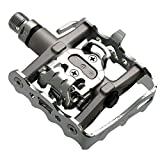 Saturn Vue Accelerator Pedals - Venzo Multi-Use Compatible with Shimano SPD Mountain Bike Bicycle Sealed Clipless Pedals - Dual Platform Multi-Purpose - Great for Touring, Road, Trekking Bikes