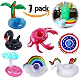 Yojoloin 7PCS Inflable Pool Float Drink Cup Holder, Posavasos...