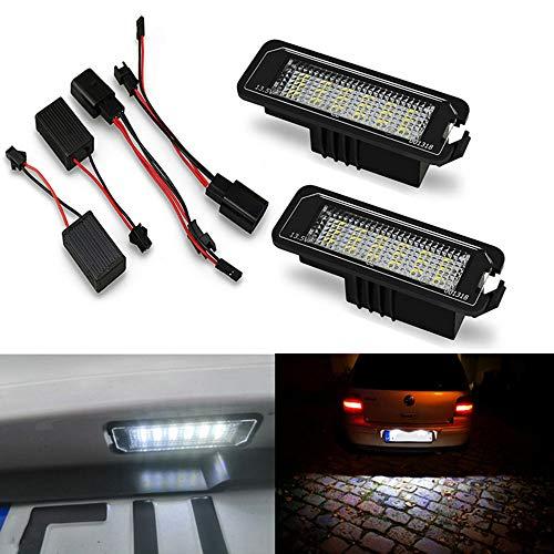 Yijueled Iluminación LED para matrícula para Golf 4, 5, 6, Phaeton, Polo, Passat, Scirocco, 2 unidades, 6500 K, 12 V