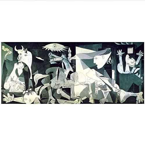 XingChen Leinwand Kunstwerk 70x140cm ohne Rahmen Guernica Von Picasso Reproduktionen Berühmte Leinwand Kunst Poster und Drucke Picasso Bilder Home Wall Decor