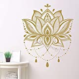 sanzangtang Lotus Mandala Vinilo Adhesivo de Pared decoración del hogar única aeróbico Remoto Estudio calcomanía Dormitorio extraíble Arte Mural 100x120 cm