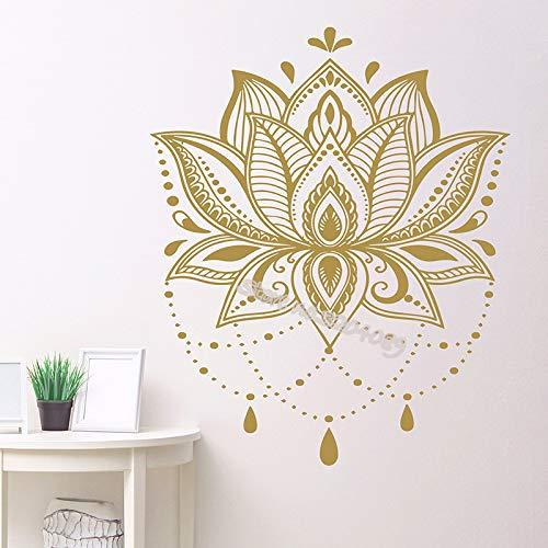 Lotus Mandala vinyl muursticker unieke decoratie aerobic remote studio sticker slaapkamer afneembaar kunstwand