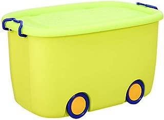 LMZ 大幼児のおもちゃの収納ボックス漫画のプラスチックターンオーバーの収納ボックスのスナックボックスの収納ボックス (Color : Green)