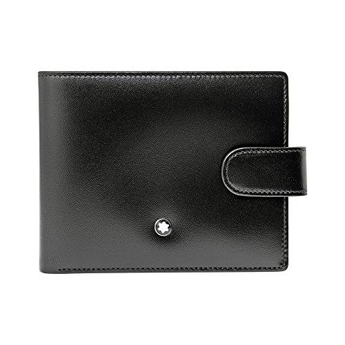 Mont Blanc capolavoro Borsetta MST Wallet 4CC View Pocket Portamonete, Nero