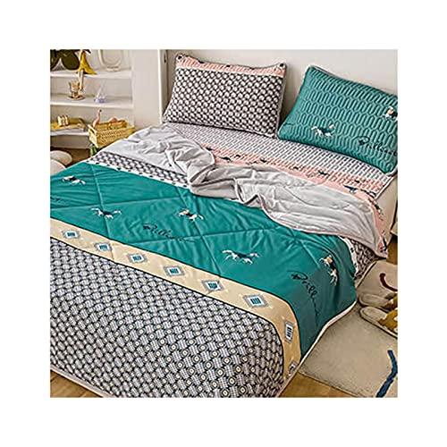 FACAI Home Decor Topper Tencel Summer Cool Latex Pad Mat Cuscino Aria Condizionata Tappetino di Raffreddamento Silk,Quilt:200x230cm