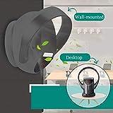 J&Z Ventilatore Senza Lama Parete-Air Circolatore con Telecomando, Funzionamento Silenzioso per Casa, Letto, Ufficio E Scrivania per Bambini Leaf Camera Fan-Wind-Libero Elettrico,Grigio