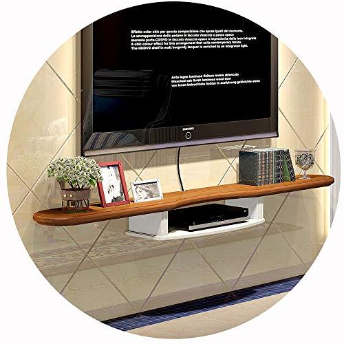 WXQIANG Mueble flotante para TV de pared para componentes de TV, controlador multimedia de pared, minimalista y elegante, 120 cm, duradero y protector (color madera: madera)