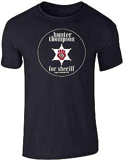 Hunter S Thompson for Sheriff Books Funny Costume Graphic Tee T-Shirt for Men
