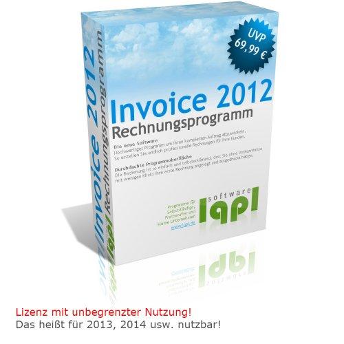 lqpl Invoice 2012 - Rechnungsprogramm - Angebote, Rechnungen, Gutschriften erstellen (keine zeitliche Begrenzung!) RC2