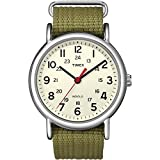 Reloj Timex Unisex  Special Weekender Slip Through, Verde (Verde/Beige)