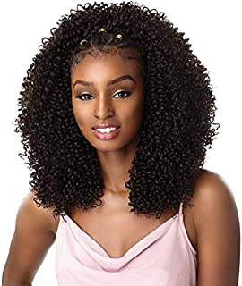 Sensationnel lulutress Pre-looped Crochet Braids 2x Coily 3C (4 pack, 1B)