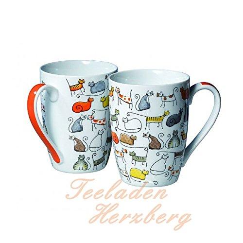 2 Becher Dodo - Teebecher - Kaffeebecher - Katzen Motiv