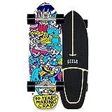 WRISCG Mini Cruisers Skateboard Complet Carving érable Skateboard, Roulements à Billes ABEC High Speed, 7 Layers érable Decks, pour Fille Garçon et Adulte débutants,B
