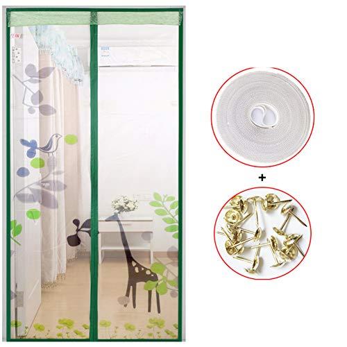 Mosquitera puerta,Anti mosquito Pantalla de la ventana,Con Gancho y Bucle pegajoso Protección contra insectos Ventilación Ponche gratis Cifrado-I 120x240cm(47x94inch)