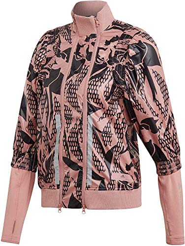 adidas Chaqueta Run para mujer, color rosa rosa XS
