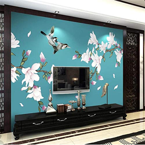 Wallpaper 3D Chinese Hand-Painted Magnolia Pen And Bird Papier Peint Wall Decoration Painting 3D Wallpaper-350 * 250Cm