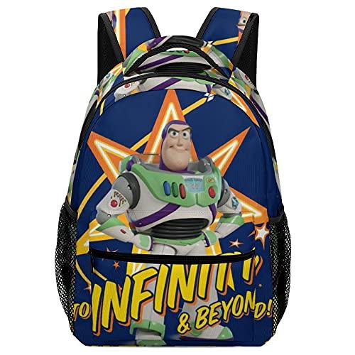 Mochila escolar para niños con bolsillo lateral  Buzz lightyear  talla única