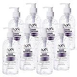 NxN 70% Alcohol Hand Sanitizer, Unscented Refreshing Gel, USP Grade A+, 96 Total FL OZ - 8 Pack of 12 OZ (354ml Each)