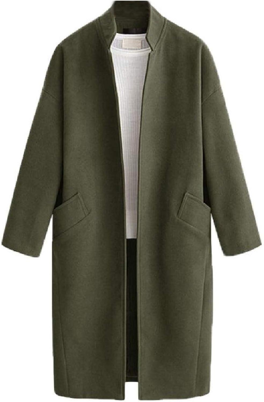 Fieer Womens LongJacket Plus Size Outwear Cardigan Slim Fit Topcoat