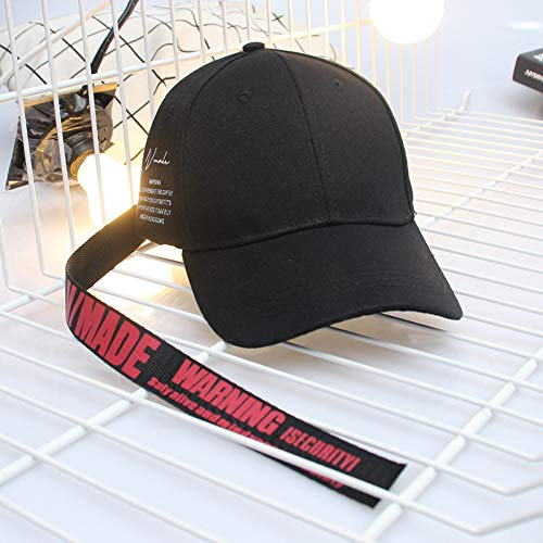 YPORE Korean Fashion Men and Women Sun Hat New Pattern Letter Long Tape Hip Hop Baseball Cap Tide Lovers Hip Hop Hat