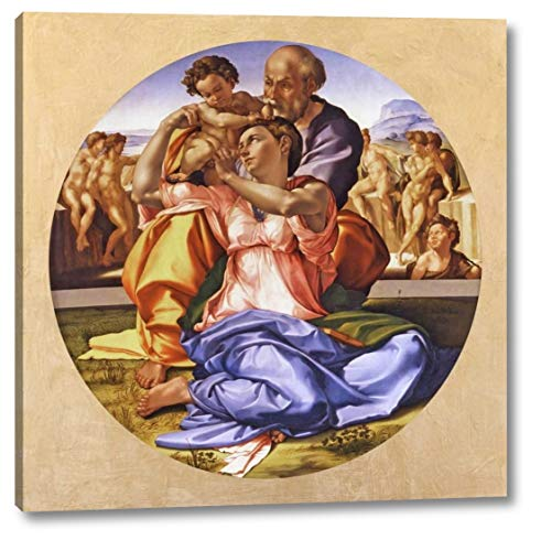 "Tondo Doni by Michelangelo Buonarroti - 12"" x 12"" Canvas Art Print Gallery Wrapped - Ready to Hang"