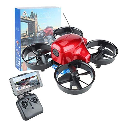 J-Clock Drone para niños, Mini Drone con cámara 480P, RC Quadcopter WiFi FPV Transmisión en Tiempo Real, Giro 360 °, Sensor Gravedad, Trayectoria Vuelo, Control Remoto aplicación móvil