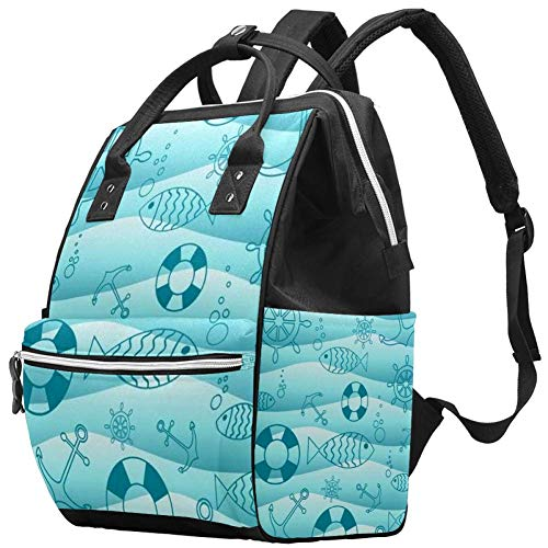 Muay Thai boksen actie op spin wiel luier tassen mama rugzak grote capaciteit luierzak verpleegkundige reizen tas voor babyverzorging 10.6x7.8x14in Color04