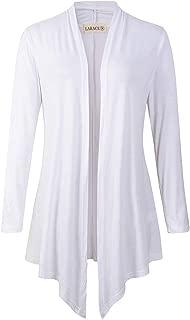 LARACE Women Open Front Cardigan Plus Size Drape Long Sleeve Lightweight Cardigans S-3X
