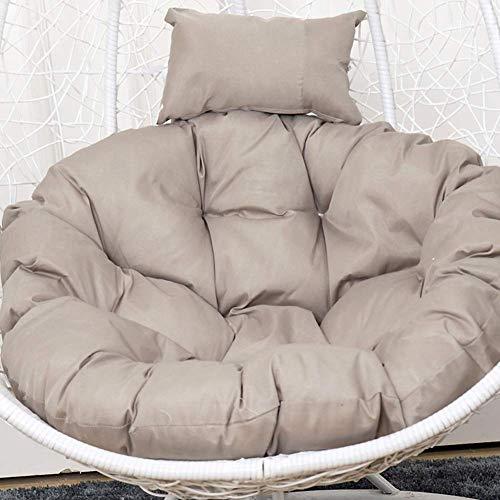 POETRY Almohadillas de Mimbre para sillas de Color sólido a Prueba de Agua Que cuelgan Thicken Nest Cojín de Silla Cojín de Asiento al Aire Libre para Muebles de Patio W 120x120cm (47x47inch)