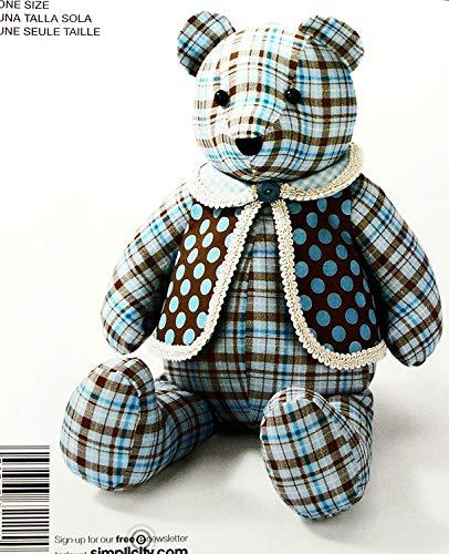 Simplicity Pattern E2115. 18' Stuffed Bear & Vest
