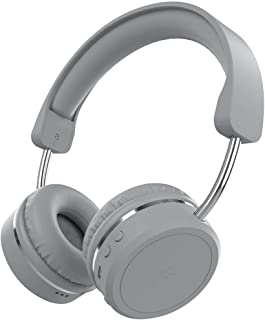 KitSound Metro X Wireless Bluetooth On-Ear Headphones with Track Controls, Mic and Call Handling - Grey