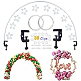 Decojoy Balloon Arch Kit, Flexible Table Arch Frame DIY Circle Backdrop Stand, Half Round Arch Kit, Balloon Arch Decorations Kit for Christmas New Year Birthday Party Wedding Parties