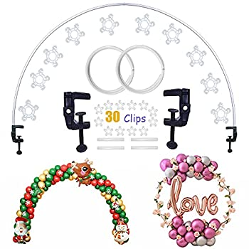 Decojoy Balloon Arch Kit Flexible Table Arch Frame DIY Circle Backdrop Stand Half Round Arch Kit Balloon Arch Decorations Kit for Christmas New Year Birthday Party Wedding Parties