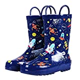 Colorxy Toddler Kids Rain Boots with Easy On Handles, Waterproof Rubber Cute Patterns Wellies...