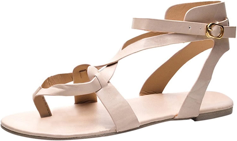 Xinantime Casual CutOut Sandals Summer Women Ladies Cross Strap Single shoes Flats Roman Ankle Flip Flops shoes